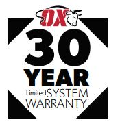 OX-IS Now Backed By A 30-Year Limited System Warranty