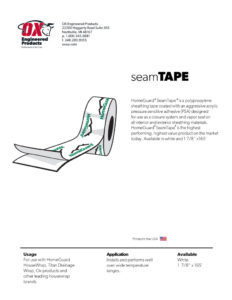 thumbnail of HomeGuard Seam Tape Brochure