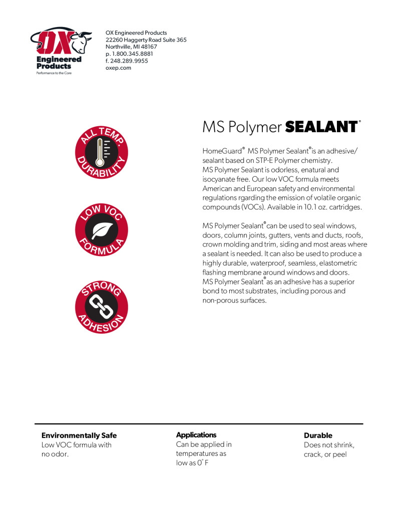 thumbnail of MS Polymer Sealant Brochure