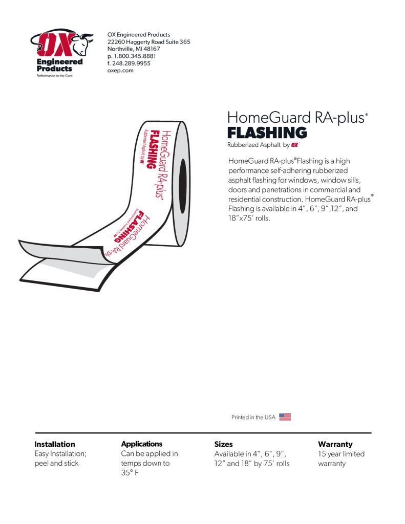thumbnail of RA Plus Flashing brochure