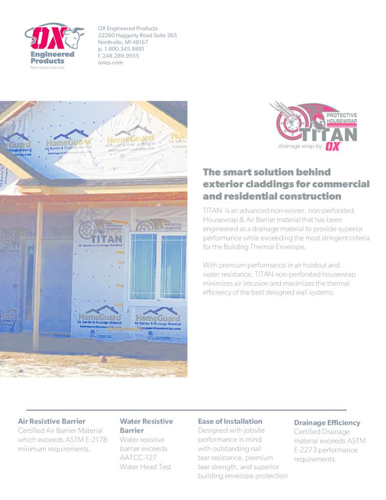 thumbnail of Titan Drainage Wrap Brochure