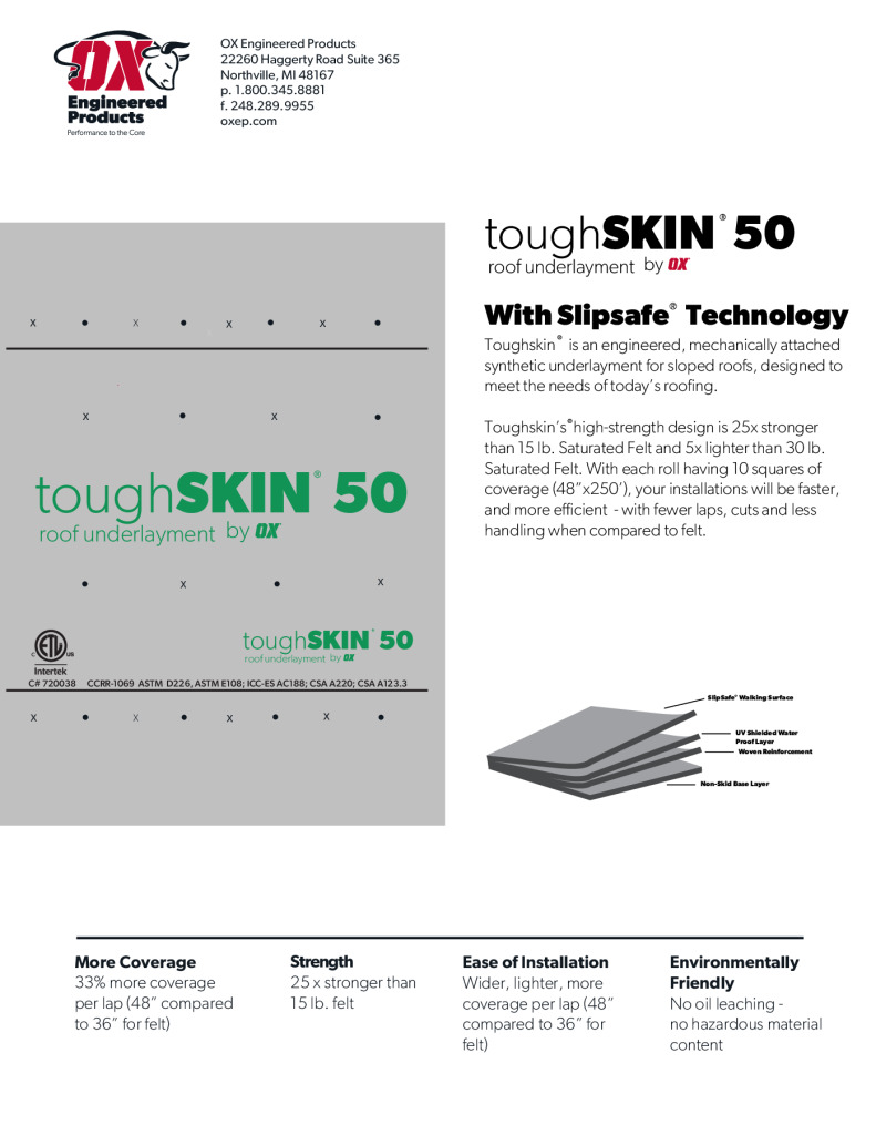 thumbnail of Toughskin 50 Brochure