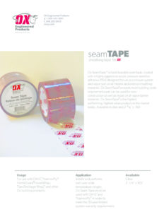 thumbnail of Seam Tape Brochure web