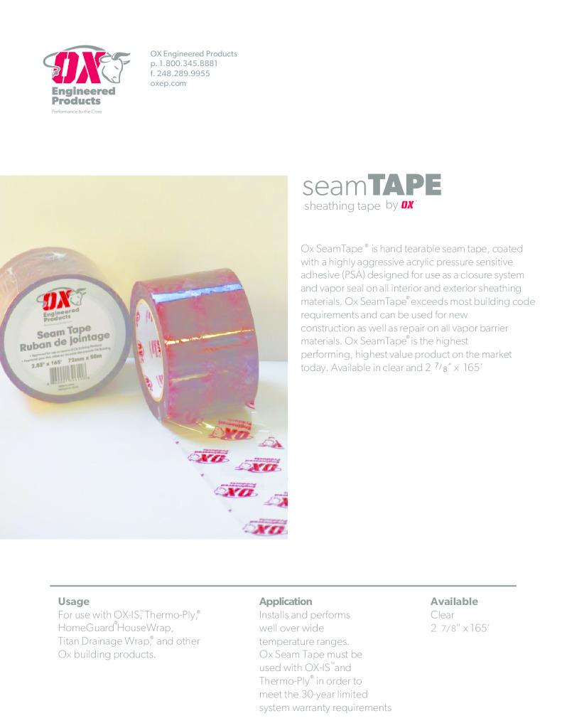 thumbnail of Seam Tape Brochure web