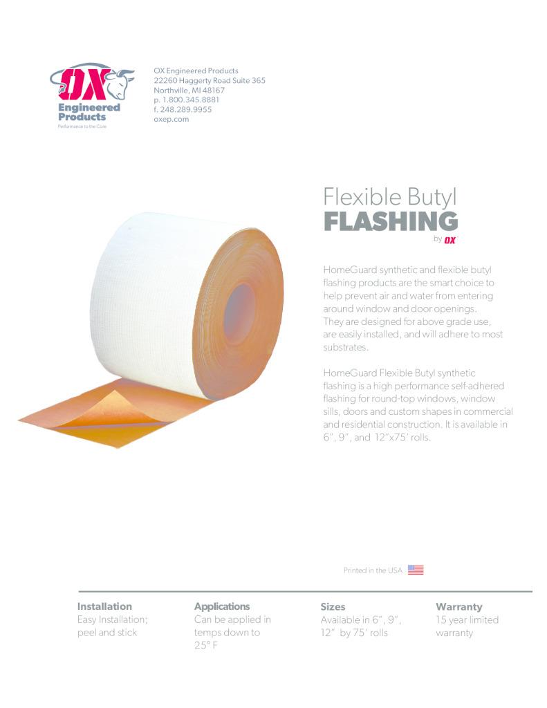 thumbnail of Flexible Butyl Flashing
