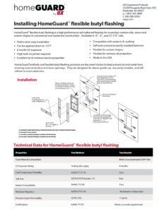 thumbnail of HomeGuard Flexible flashing and synthetic flashing install guide