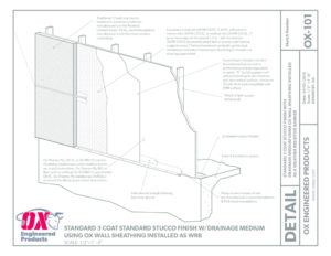 thumbnail of Tply ISO RED Standard 3 Coat Stucco Finish with drainage drawing